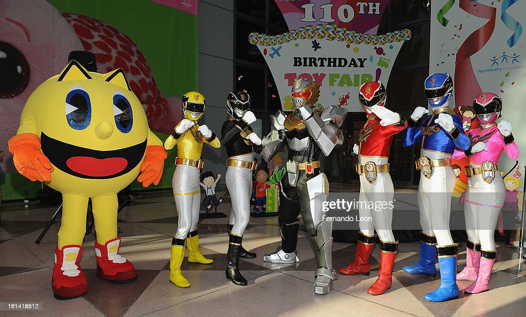 Pac-Man and The Power Rangers join opening ceremonies at Toy Fair to celebrate the launch of new Pac-Man Toys from Bandai of America, based on the upcoming Disney XD animated series 'PAC-MAN and the Ghostly Adventures'>> at Jacob Javitz Center on February 10, 2013 in New York City.