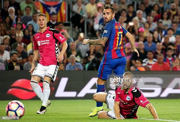 Paco Alcacer during La Liga match between FC Barcelona v Alaves in Barcelona on September 10 2016