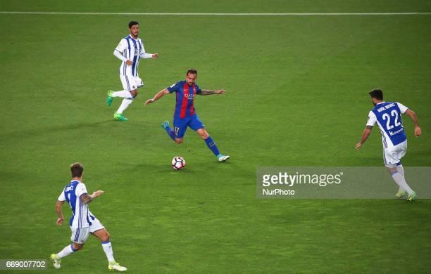 Paco Alcacer during La Liga match between FC Barcelona v Real Sociedad in Barcelona on April 15 2017 Photo Joan Valls/Urbanandsport/Nurphoto