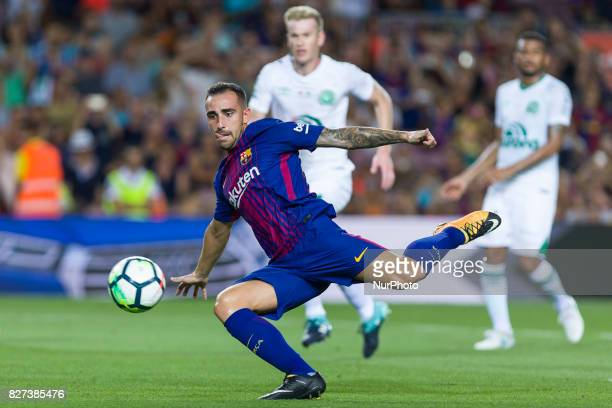 Paco Alcacer during the match between FC Barcelona vs Chapecoense for the Joan Gamper trophy played at Camp Nou Stadium on 7th August 2017 in...
