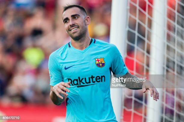 17 Paco Alcacer from Spain of FC Barcelona during the friendly match between Nastic vs FC Barcelona at Nou Estadi de Tarragona on August 4th 2017 in...