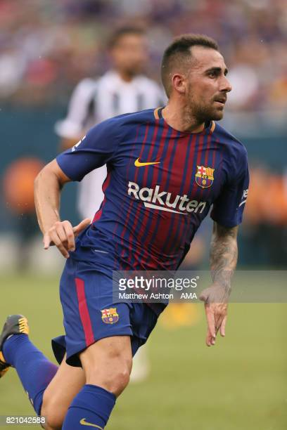 Paco Alcacer of FC Barcelona during the International Champions Cup 2017 match between Juventus and FC Barcelona at MetLife Stadium on July 22 2017...