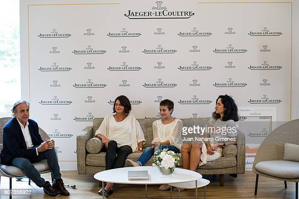 Paco Arango Mercedes Camos Esther and Carolina Herrera attend 'Un achuchon por la UCI del Nino Jesus' press conference a charity project sponsored by...
