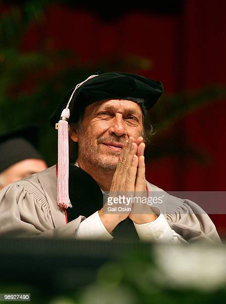Paco de Lucia one of five honorary doctorate recipients attends the 2010 commencement ceremony at Berklee College of Music on May 8 2010 in Boston...