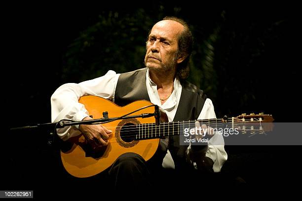 Paco de Lucia performs on stage at Gran Teatre Del Liceu on June 20 2010 in Barcelona Spain