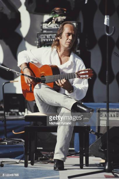 Paco De Lucia performs on stage in Seville Spain 1991