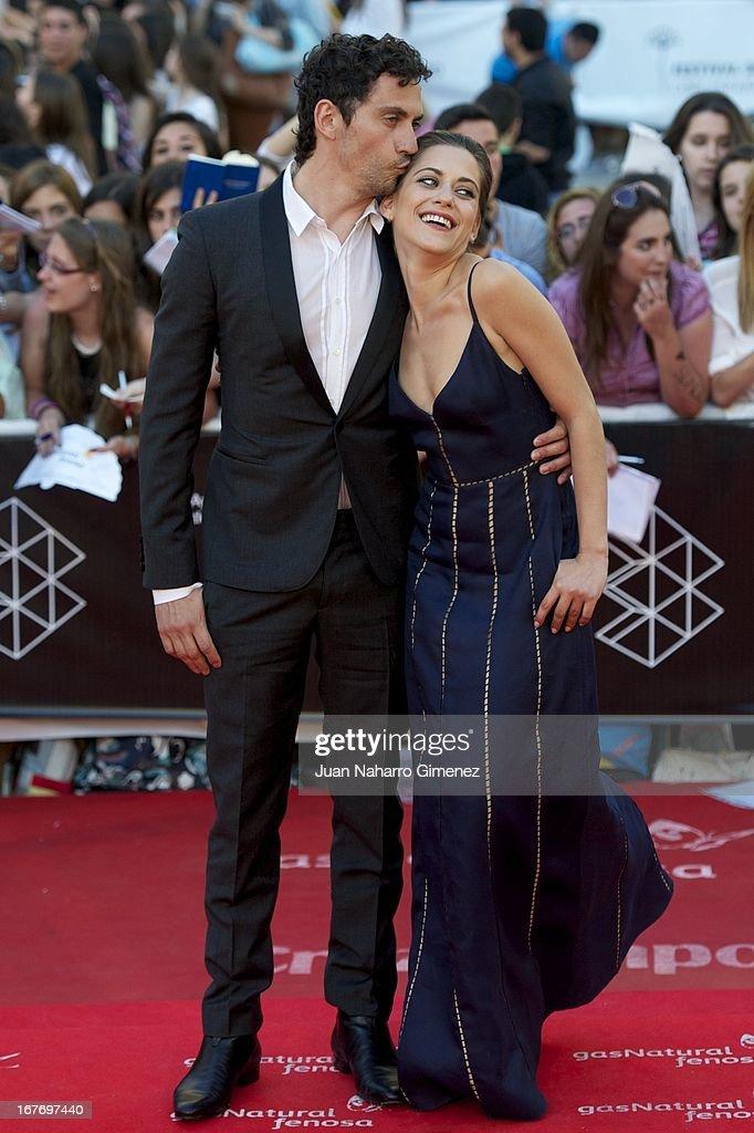 Paco Leon and Maria Leon attend 16 Malaga Film Festival ceremony at Teatro Cervantes on April 27 2013 in Malaga Spain