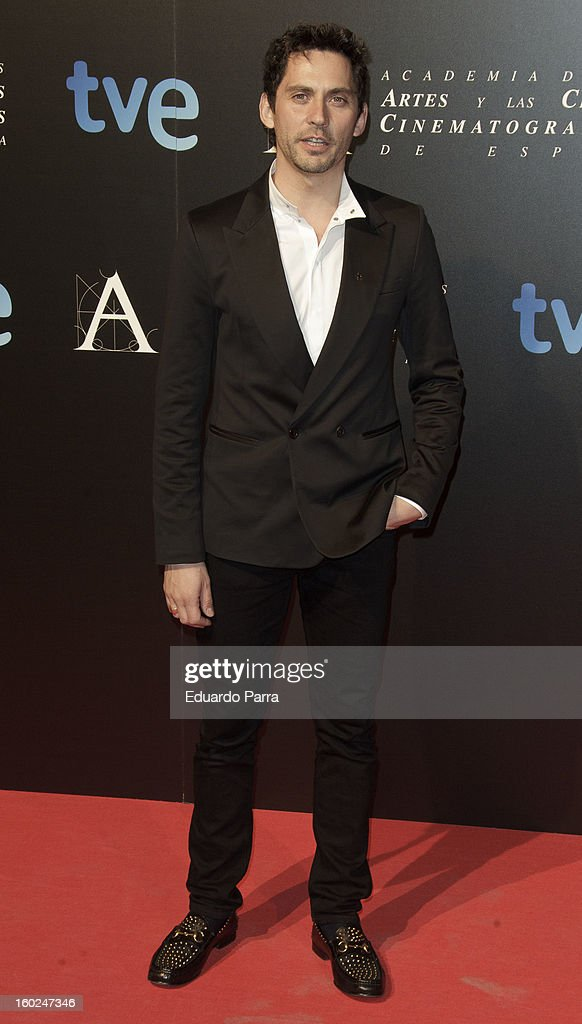 Paco Leon attends Goya awards final candidates party photocall at El Canal theatre on January 28, 2013 in Madrid, Spain.