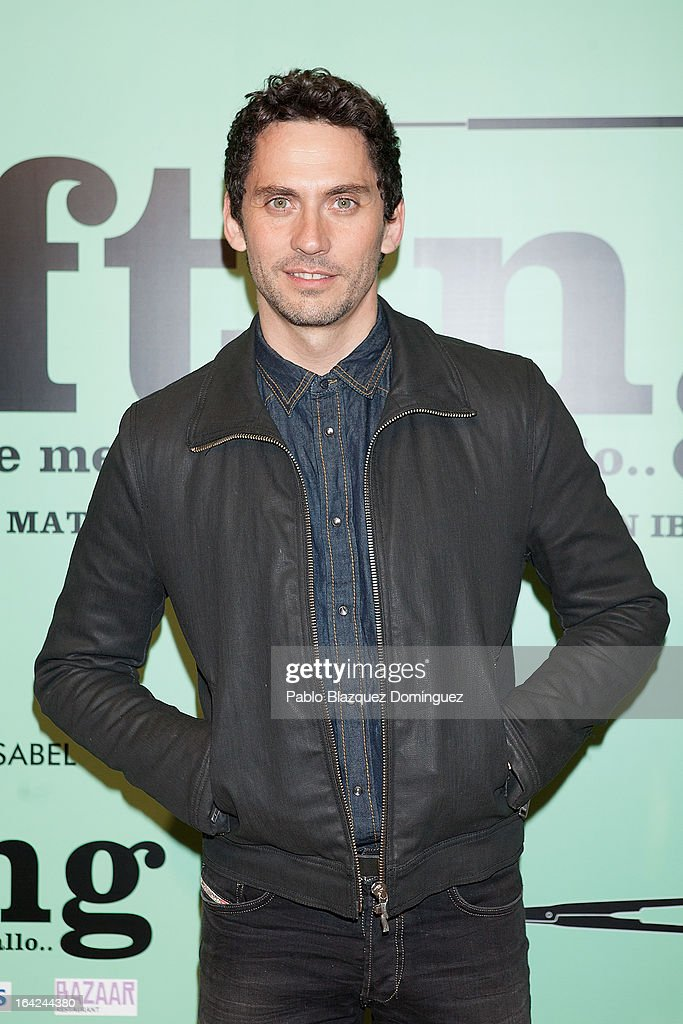 Paco Leon attends the 'Lifting' premiere at Infanta Isabel Theatre on March 21, 2013 in Madrid, Spain.