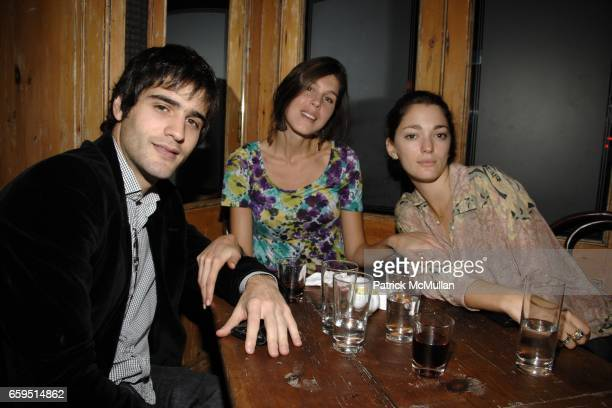 Paco Naveira Delfina Luthard and Sofia Sanchez attend CLIFFORD ROSS postopening dinner at Morandi Restaurant on October 24 2009 in New York City