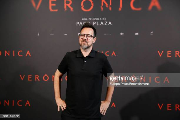 Paco Plaza attends 'Veronica' photocall on August 23 2017 in Madrid Spain