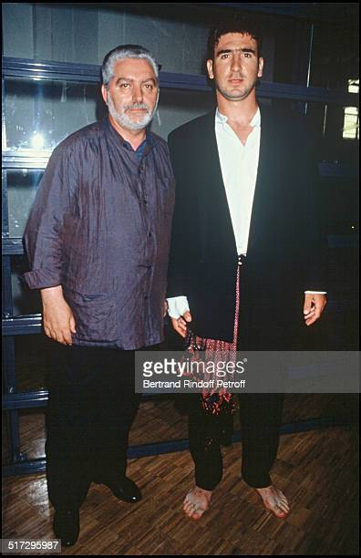 Paco Rabanne and Eric Cantona Paco Rabanne fashion show spring summer 1994 men collection in Paris