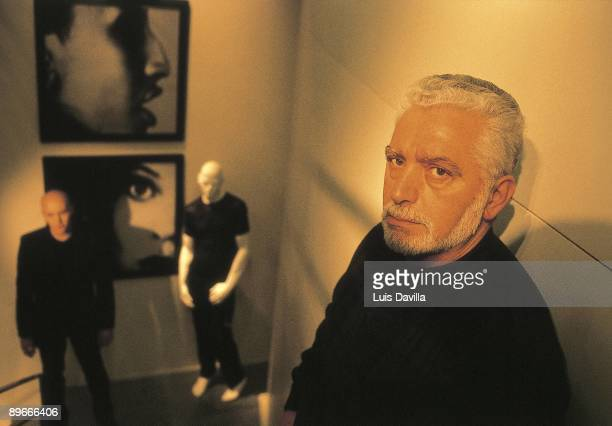 Paco Rabanne in his studio at Paris