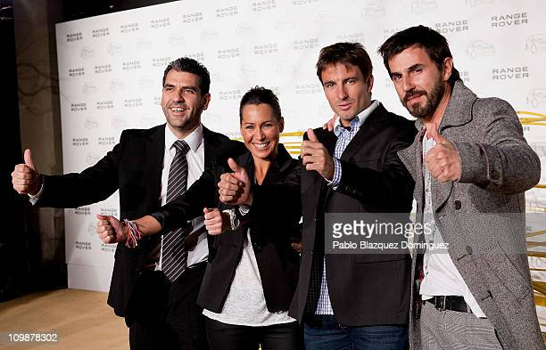 Paco Roncero Beatriz Pino Tommy Robredo and Santi Millan attend 'Madrid Evoca' party at Conde de Villagonzalo Palace on March 8 2011 in Madrid Spain