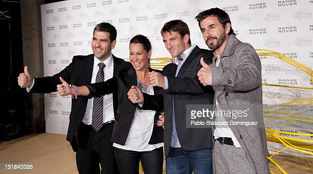 Paco Roncero Beatriz Pino Tommy Robredo and Santi Millan attends 'Madrid Evoca' party at Conde de Villagonzalo Palace on March 8 2011 in Madrid Spain