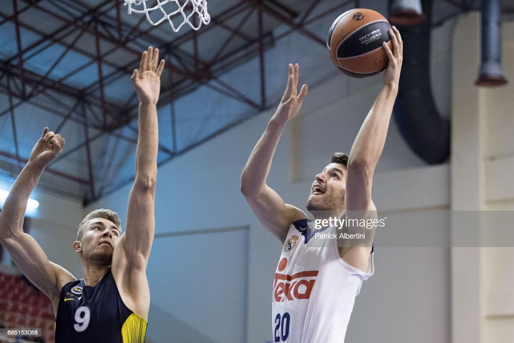 Paco Salvador, #20 of U18 Real Madrid in action during the Euroleague Basketball Adidas Next Generation Tournament game between U18 Real Madrid v U18 Fenerbahce Istanbul at Ahmet Comert on May 19, 2017 in Istanbul, Turkey.