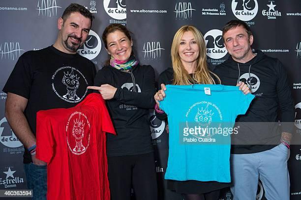 Paco Santiago Sara Baras Cayetana Guillen Cuervo and Toni Bonanno attend 'El Bonanno' 20th Anniversary event on December 12 2014 in Madrid Spain