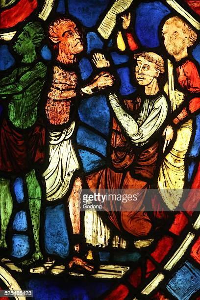 Pacte de Theophile avec le diable XIIe siecle