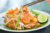 Authentic Thai cuisine, Pad Thai (Thai style noodles)