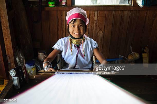 Padaung tribe girl in Myanmar