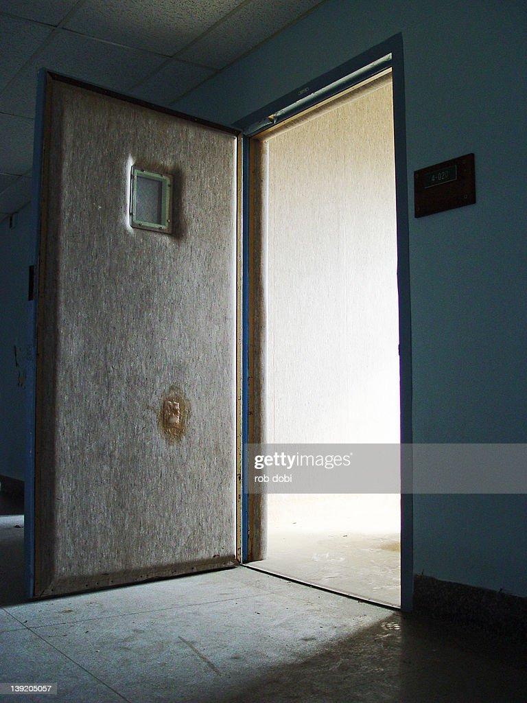 Stock Room Doors : Padded room door stock photo getty images