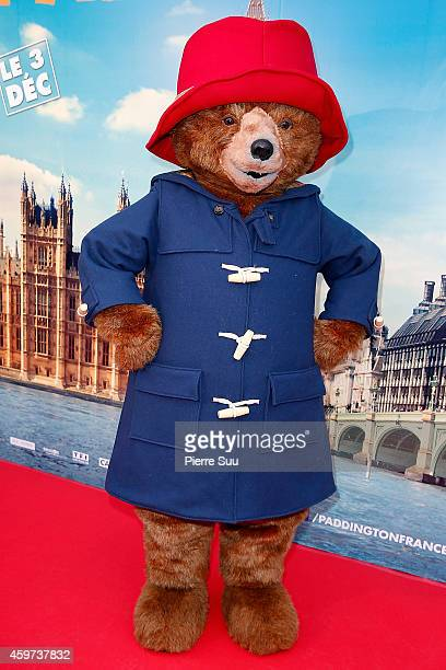Paddington bear attends the 'Paddington' Paris Premiere at Cinema Pathe Beaugrenelle on November 30 2014 in Paris France