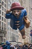 Paddington Bear balloon at Macy's 2014 88th Thanksgiving Day Parade The Manhattan Borough of New York New York USA