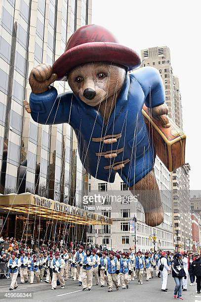 Paddington Bear balloon during the 88th Annual Macy's Thanksgiving Day Parade on November 27 2014 in New York City