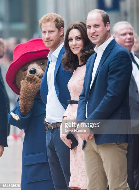 Paddington Bear Prince Harry Catherine Duchess of Cambridge and Prince William Duke of Cambridge attends the Charities Forum Event on board the...