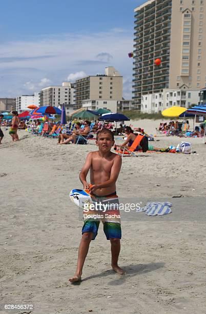 Paddle ball game, North Myrtle Beach, South Carolina, USA