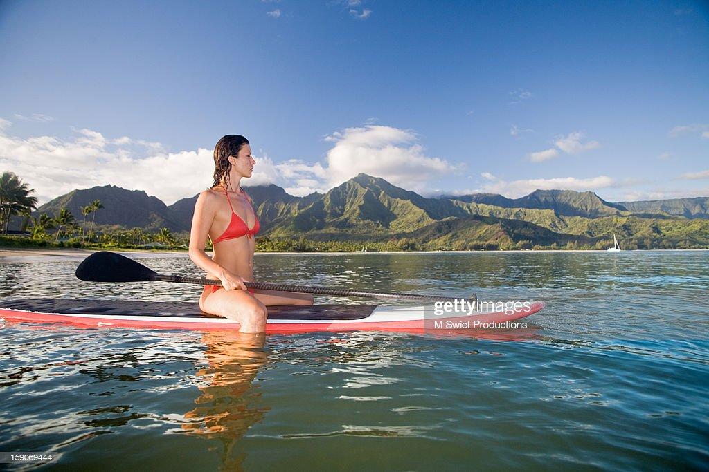 paddle hanalei : Stock Photo