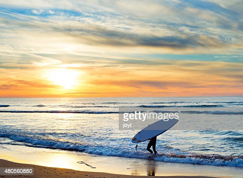 Paddle surfing, Portugal : Stock Photo