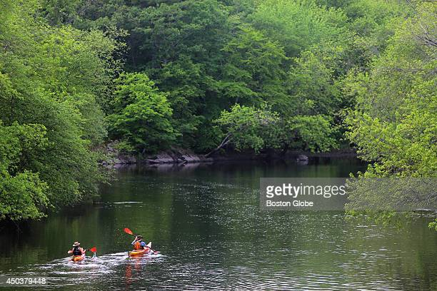 Paddlers navigate the Concord River near the confluence of the Sudbury and Assabet Rivers The National Weather Service website calls for another...