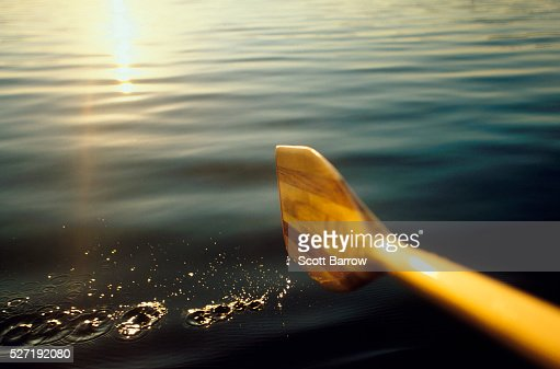 Paddling on a calm lake : Stock-Foto