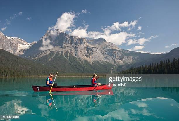 Paddling on Mountain Lake