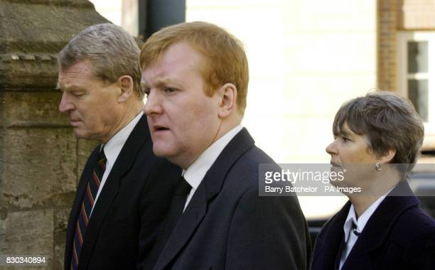 Paddy Ashdown Liberal Democrat leader Charles Kennedy and Mrs Ashdown arriving at the church service for Andrew Pennington at St Matthew's Church in...
