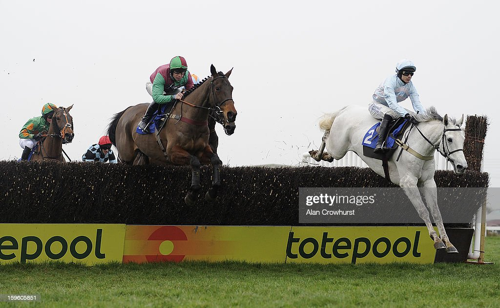 <a gi-track='captionPersonalityLinkClicked' href=/galleries/search?phrase=Paddy+Brennan&family=editorial&specificpeople=241422 ng-click='$event.stopPropagation()'>Paddy Brennan</a> riding Chartreux (R) on their way to winning The Higos Insurance Services Somerset National Handicap Steeple Chase at Wincanton racecourse on January 17, 2013 in Wincanton, England.