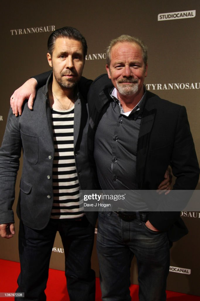 L-R <a gi-track='captionPersonalityLinkClicked' href=/galleries/search?phrase=Paddy+Considine&family=editorial&specificpeople=218066 ng-click='$event.stopPropagation()'>Paddy Considine</a> and <a gi-track='captionPersonalityLinkClicked' href=/galleries/search?phrase=Peter+Mullan&family=editorial&specificpeople=533010 ng-click='$event.stopPropagation()'>Peter Mullan</a> attend the London premiere of 'Tyrannosaur' at The BFI Southbank on October 6, 2011 in London, United Kingdom.
