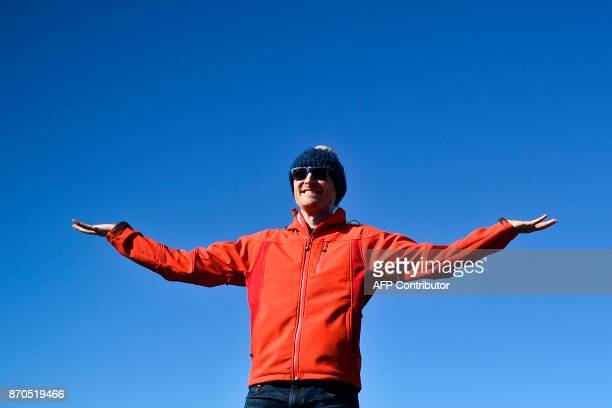 Paddy Cosgrave Irish entrepreneur and cofounder of Web Summit poses at Foz do Lizandro beach in Ericeira on November 5 2017 during a 2017 Web Summit...
