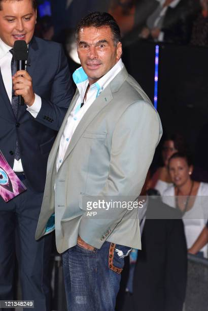 Paddy Doherty enters the Channel 5's Celebrity Big Brother House at Elstree Studios on August 18 2011 in Borehamwood England