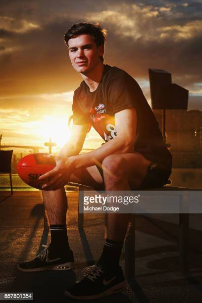 Paddy Dow poses during the AFL Draft Combine at Etihad Stadium on October 5 2017 in Melbourne Australia