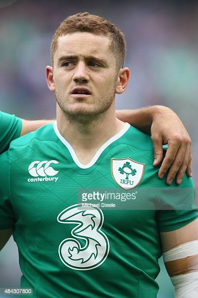 Paddy Jackson of Ireland during the International match between Ireland and Scotland at the Aviva Stadium on August 15 2015 in Dublin Ireland