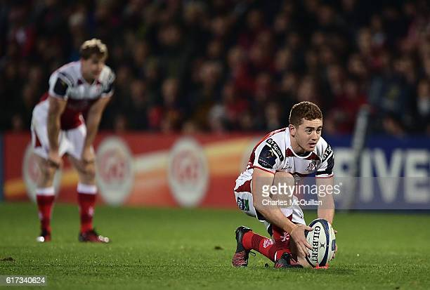Paddy Jackson of Ulster during the Champions Cup Pool 5 game between Ulster Rugby and Exeter Chiefs at Kingspan Stadium on October 22 2016 in Belfast...