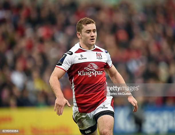 Paddy Jackson of Ulster during the European Champions Cup game between Ulster and ASM Clermont Auvergne on December 10 2016 in Belfast United Kingdom