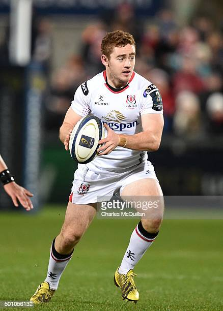 Paddy Jackson of Ulster during the European Champions Cup Pool 1 rugby game at Kingspan Stadium on December 11 2015 in Belfast Northern Ireland