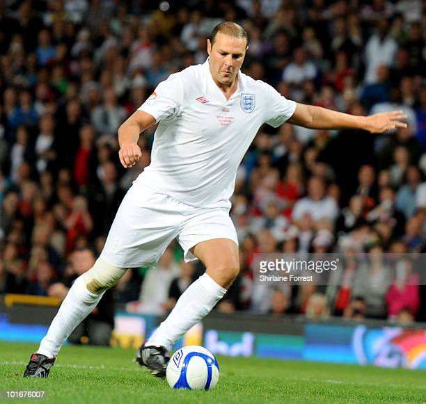 Paddy McGuiness participates in Soccer Aid in aid of UNICEF at Old Trafford on June 6 2010 in Manchester England