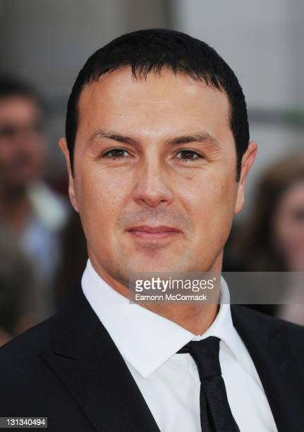 Paddy Mcguinness arrives on the red carpet for The Philips British Academy Television Awards at Grosvenor House on May 22 2011 in London England