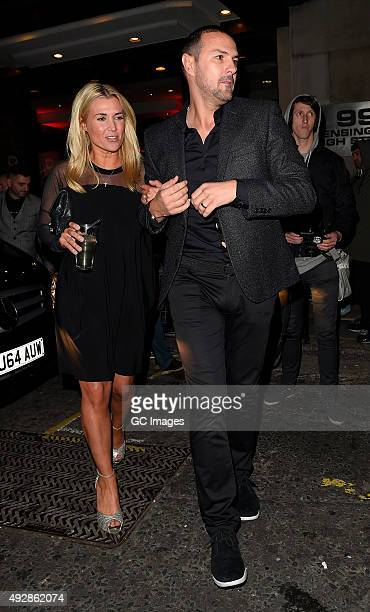 Paddy McGuinness leaves the Kensington Roof Gardens after celebrating Ant and Dec's joint 40th Birthday on October 15 2015 in London England