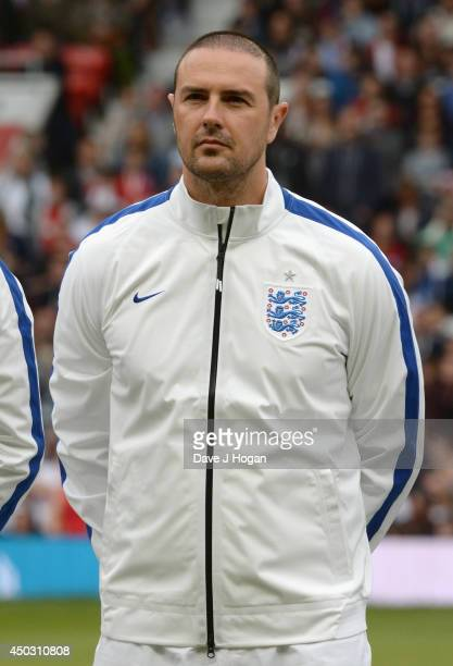 Paddy McGuinness of England in the team line up ahead of Soccer Aid 2014 at Old Trafford on June 8 2014 in Manchester England