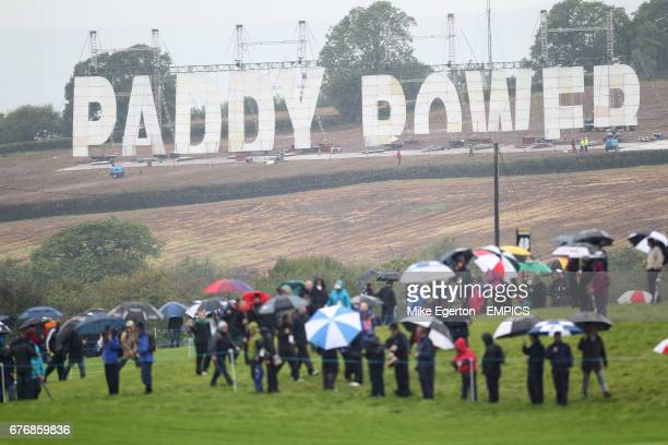 Paddy Power erect large lettering in an ajoining field to the course